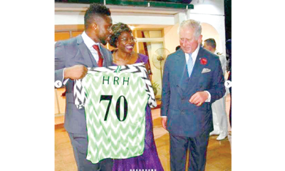 Joseph Yobo, celebrities troop out to meet Prince Charles