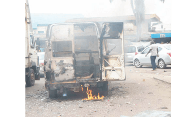 N100 dispute: Passengers burn bus conductor for allegedly killing commuter