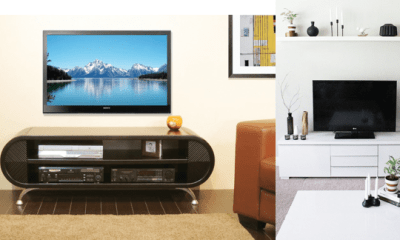 INTERIORS:  Sleek TV stand