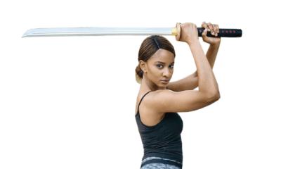 Adesua Etomi-Wellington displays martial arts in new movie, Muna