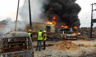 Ijegun explosion: Two killed, 8 injured, 30 vehicles burnt