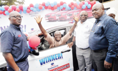 Artisans win saloon cars in Dangote cement promo
