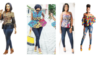 Live your best denim life with Ankara tops