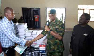 16 Brigade donates education materials to shools in Bayelsa