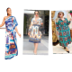 Iconic scarf print dress