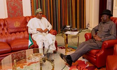 Jonathan keeps mum after meeting with Buhari
