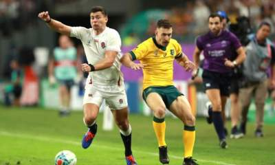 England beat Australia 40-16 to make Rugby World Cup semis