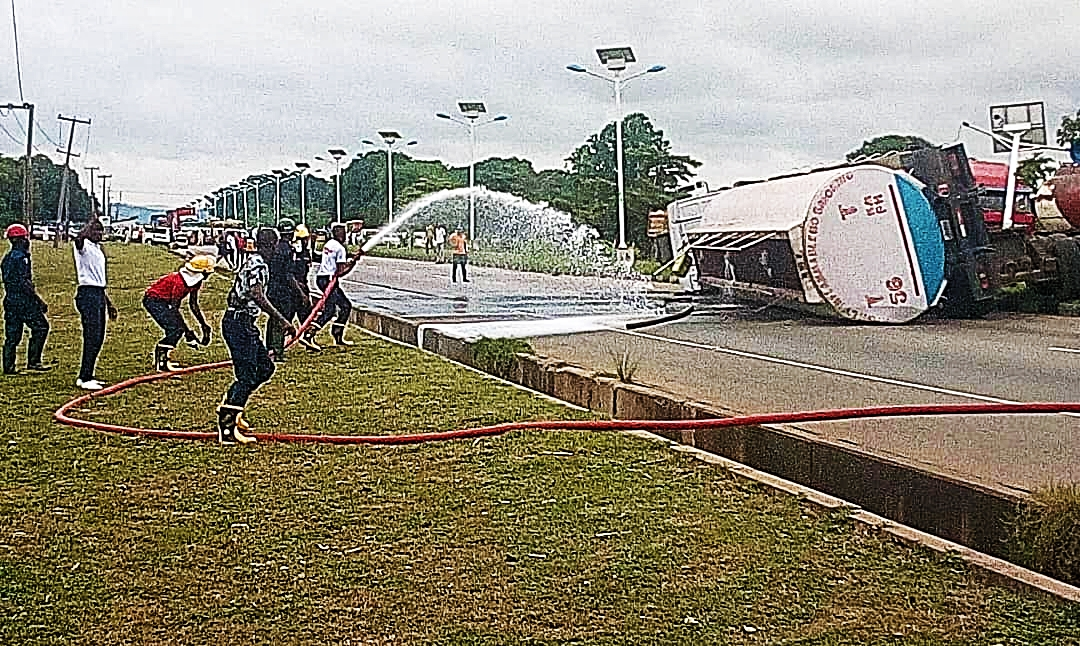 News20 hours ago Panic as fuel tanker falls in Minna - New Telegraph Newspaper