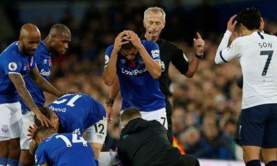 EPL: Everton midfielder, Gomes, suffers horrific injury in Spurs draw