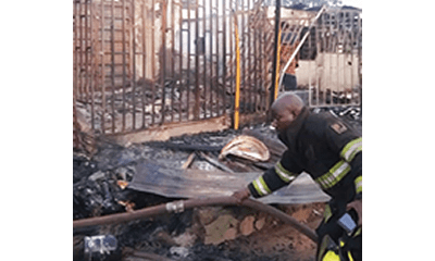 Two traders collapse after fire guts shops in Lagos