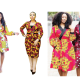 Inject glitz into your style with short Ankara wrap dress
