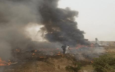 as military aircraft crashes