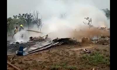 VIDEO: Reported Site Of The NAF Plane Crash Involving The Chief Of Army Staff And Seven Others