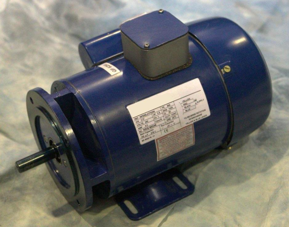 0.55kW, 3/4HP 220V/415V Three Phase, 2-pole, Totally-Enclosed-Fan-Cooled