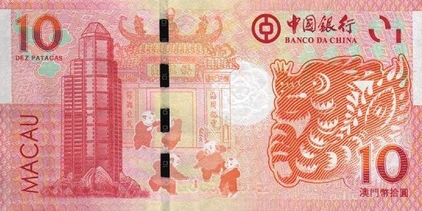 澳門幣:介紹,歷史,制度,面額,紀念幣,澳門流通紙幣圖樣,中國銀行,大西洋銀行,紀_中文百科全書