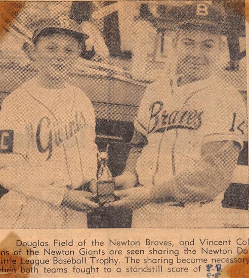 Newton Baseball Giants Braves
