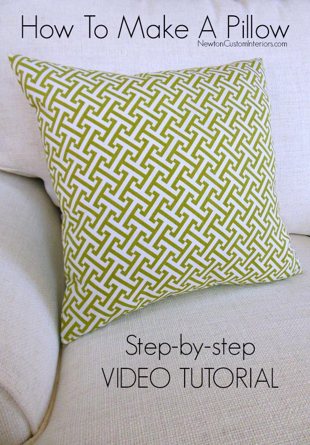 How To Make A Pillow  Newton Custom Interiors