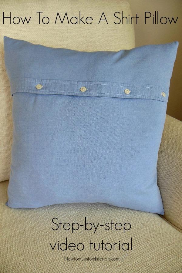 how to make a shirt pillow newton