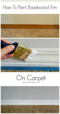 How To Paint Baseboard Trim On Carpet - Newton Custom ...