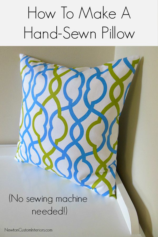 how to make a hand sewn pillow newton