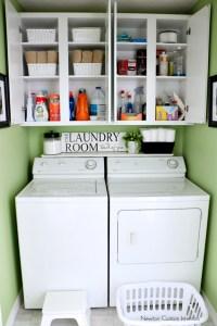 Organizing A Small Laundry Room - Newton Custom Interiors