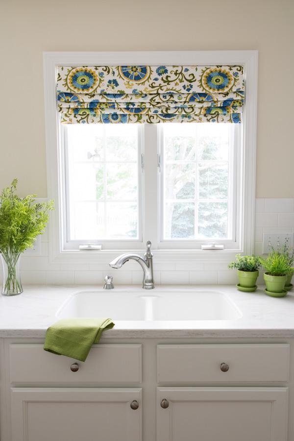 unfinished oak kitchen cabinets pre assembled online roman shade valance - newton custom interiors