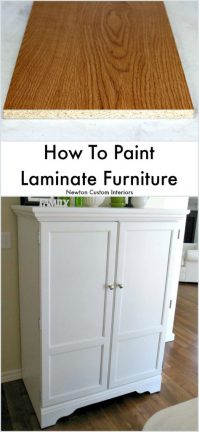 How To Paint Laminate Furniture - Newton Custom Interiors