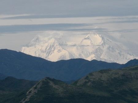 Denali mountain in Denali National Park, Alaska.