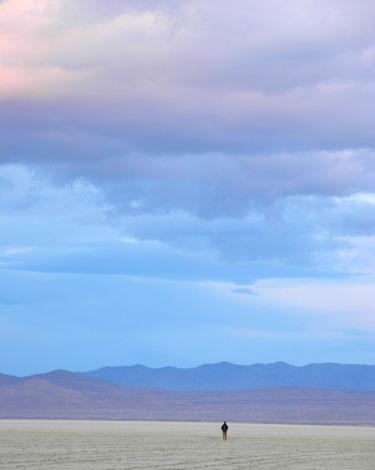 On the playa of the Black Rock Desert, Nevada, NV.