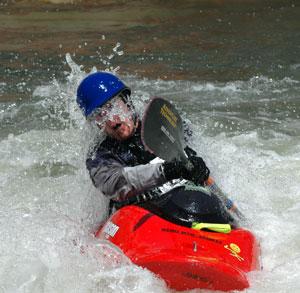 Kayaker at the Reno River Festival in Reno, Nevada, NV