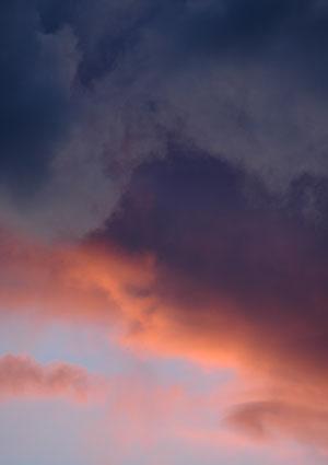 Stormy sunset over Reno, Nevada, NV