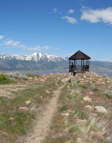 Hiking at Washoe Lake, Nevada, NV