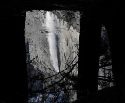 Yosemite Fall reflection, Yosemite National Park, CA.
