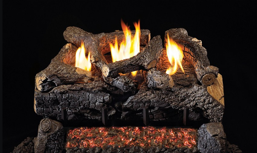 Real Fyre Evening Fyre Series Gas Logs - Vent-Free ...