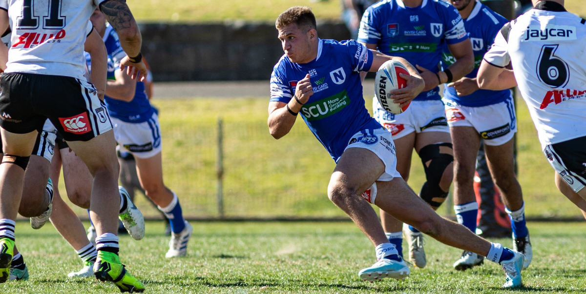 Newtown's livewire winger Luke Polselli gets into full stride against Western Suburbs at Henson Park last Saturday. Photo: Mario Facchini, mafphotography