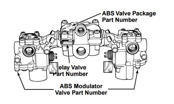Meritor WABCO R950134 Relay Valve/Modulator Valve Kit with
