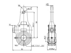 Haldex KN54010 Manual Slack Adjuster, 1-1/4″-24 Spline, 5