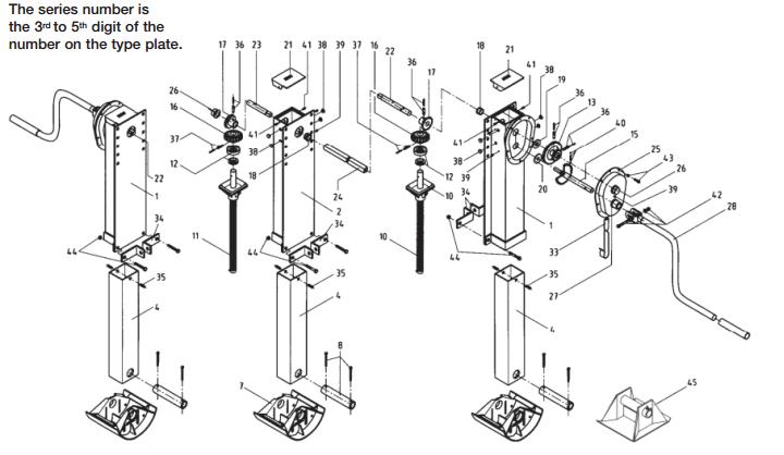 Jost Telescopic landing gear – E100A/E140A