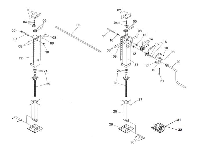 Jost Telescopic landing gear – Gearbox Outside