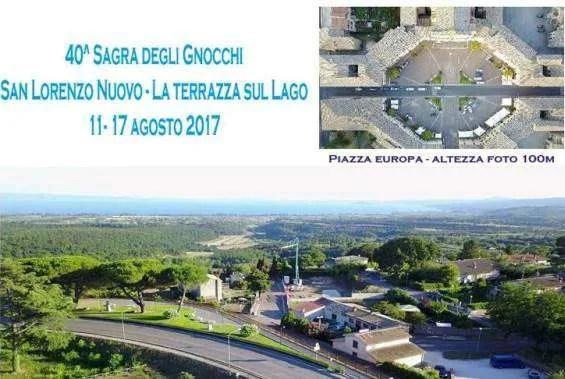 San Lorenzo Nuovo Tutto pronto per la 40 Sagra degli Gnocchi