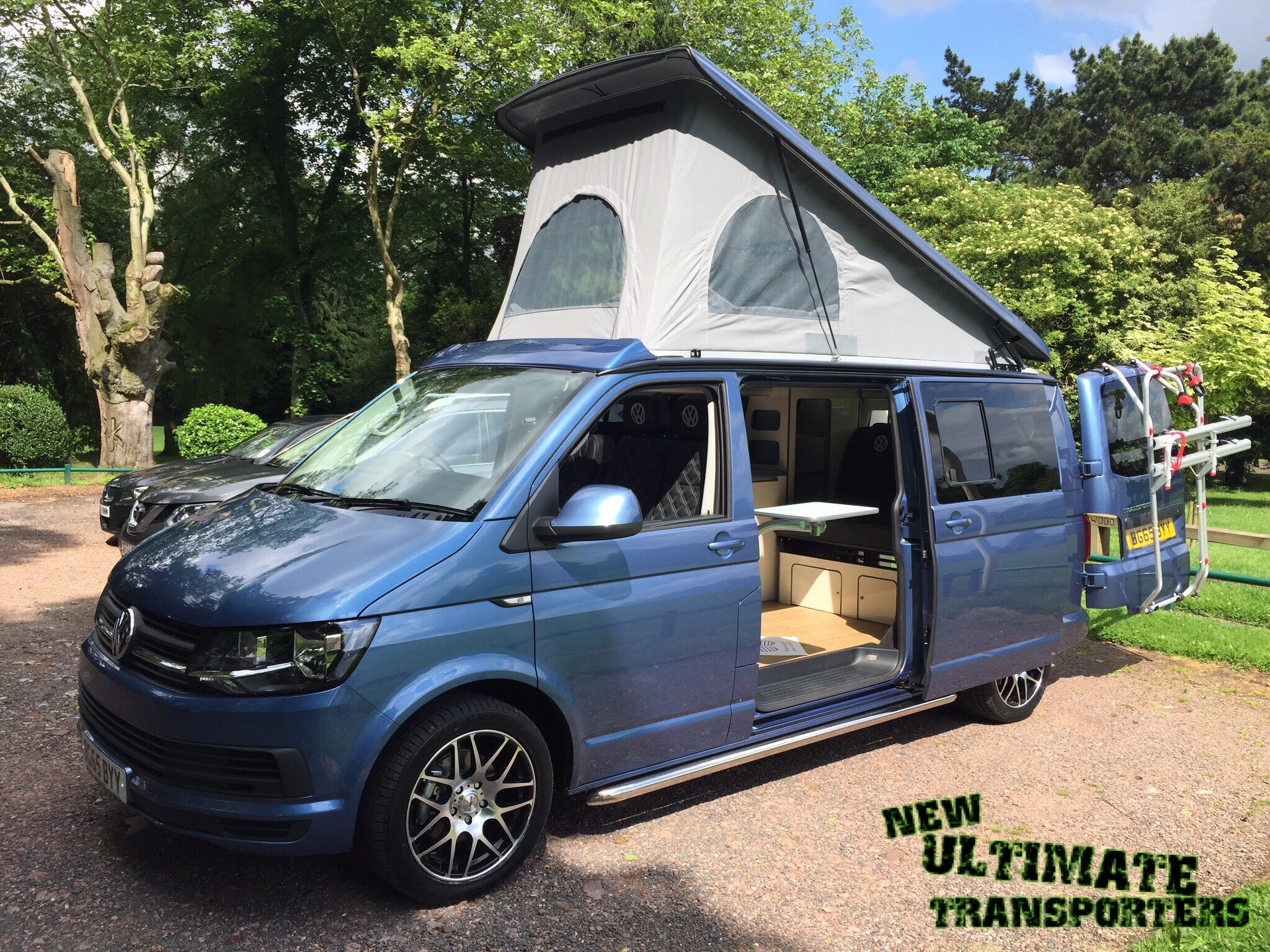 vw t6 blue camper conversion new ultimate transporters. Black Bedroom Furniture Sets. Home Design Ideas