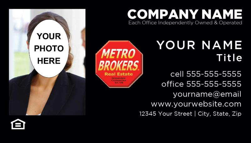 Metro Brokers Metro Brokers Inc Metro Brokers Inc Agents Full Color Business Cards