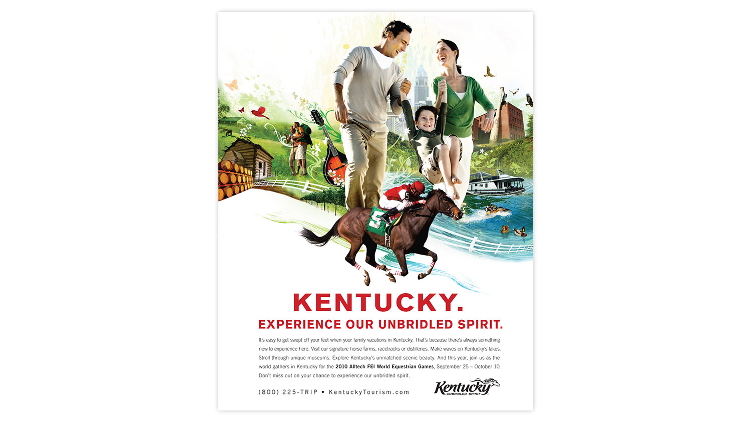 Kentucky Tourism Unbridled Spirit