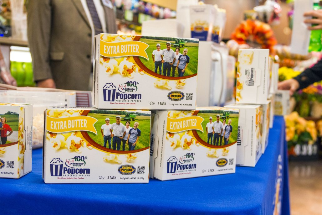 Preferred Popcorn at Kroger Press Conference