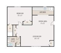 1 Bed Bath Apartment Floor Plans - Latest BestApartment 2018