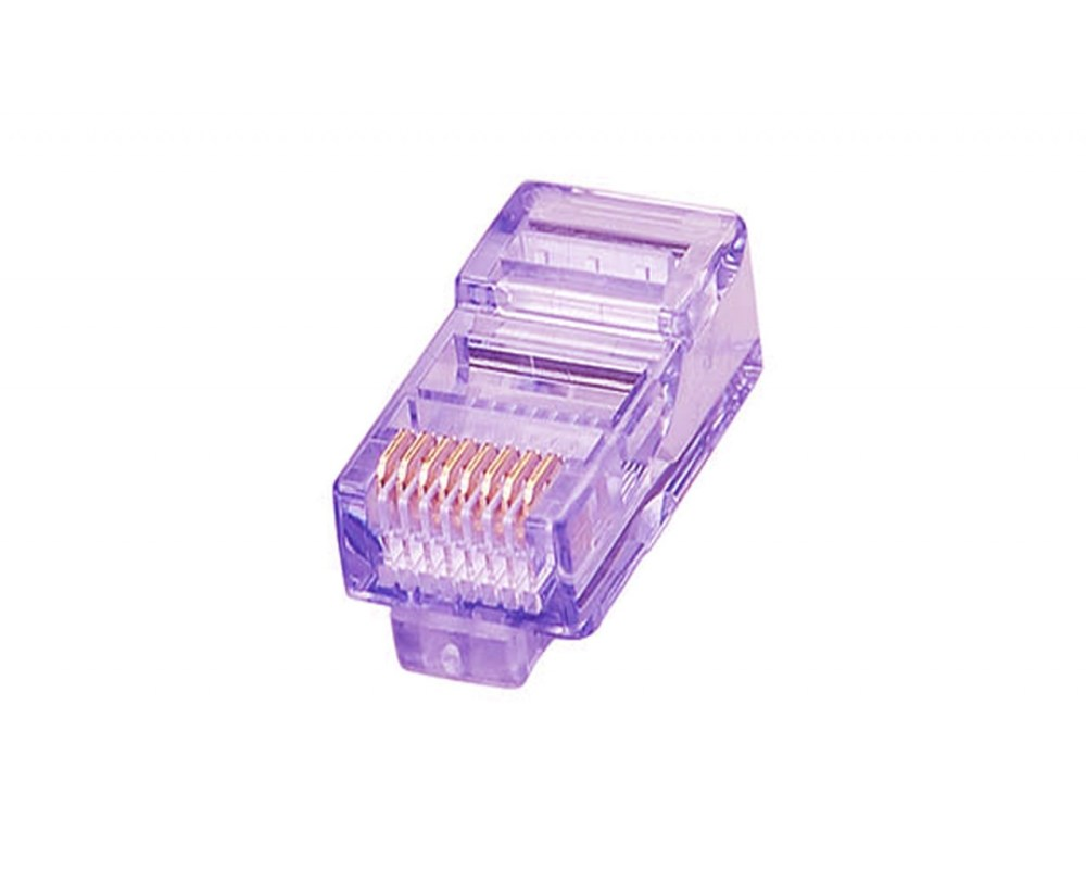 medium resolution of modular plug 8p8c for solid stranded wire cat 5e crystal purple