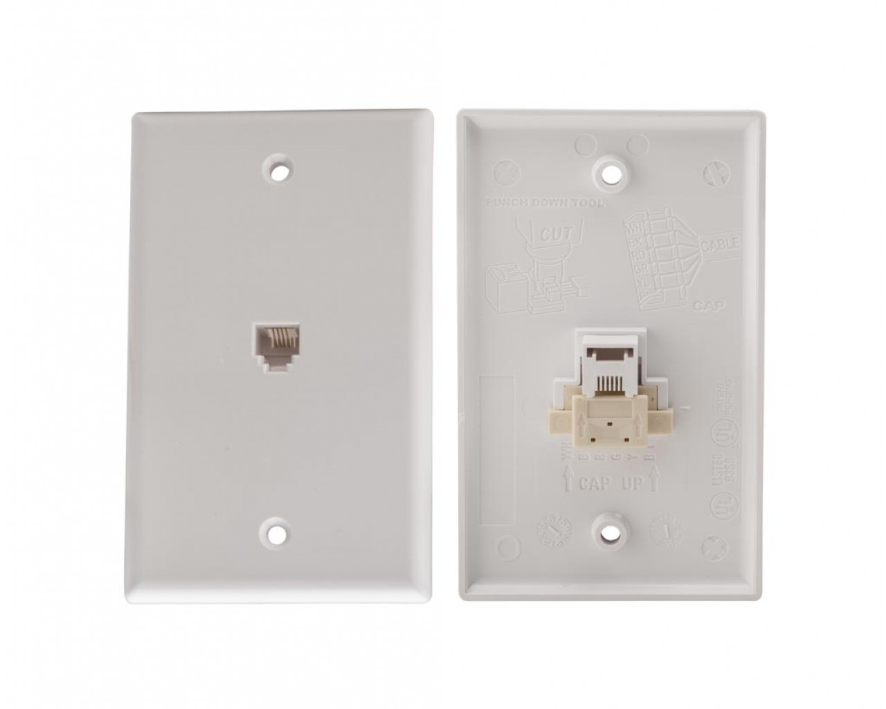 hight resolution of 4c quick connect voice flush mount jack white