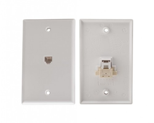 small resolution of 4c quick connect voice flush mount jack white