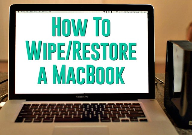 how to wipe out old macbook