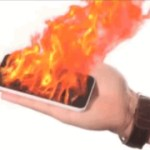 iPhone on fire